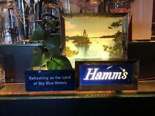 RARE C 1950s BREWERIANA: Lighted Vintage Hamms Beer Sign Register Topper - Works