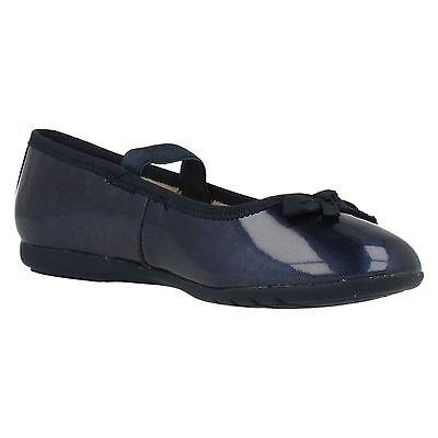 Clarks 'Tanz Glanz' Mädchen Marineblau Ballerina Schuhe F Passform