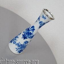 Schumann Arzberg Vase Blumenvase echt Kobalt blaue Rosen Silberrand 50er Jahre