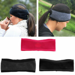 Women-Winter-Thermal-Fleece-Ponytail-Headband-Ear-Cover-Ear-Warmer-Head-Wear