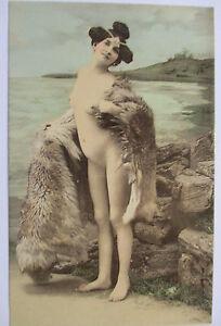 Erotik-Nackte-Frau-Fuchs-Stola-ca-1900-48268