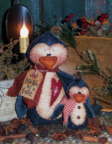 Primitive Penguin Penn /& Guinn Doll Set Paper Pattern #186