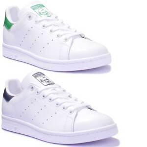 sports shoes e3ccf 3abac Details zu Adidas Stan Smith Damen Leder WeiB Grun Turnschuhe EU GroBe 36 -  42