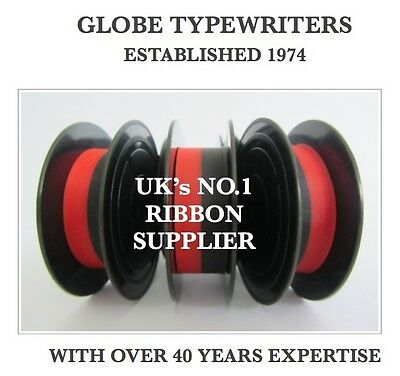 2 x /'SILVER REED LEADER I or II/' *BLACK//RED* TOP QUALITY*10M *TYPEWRITER RIBBONS