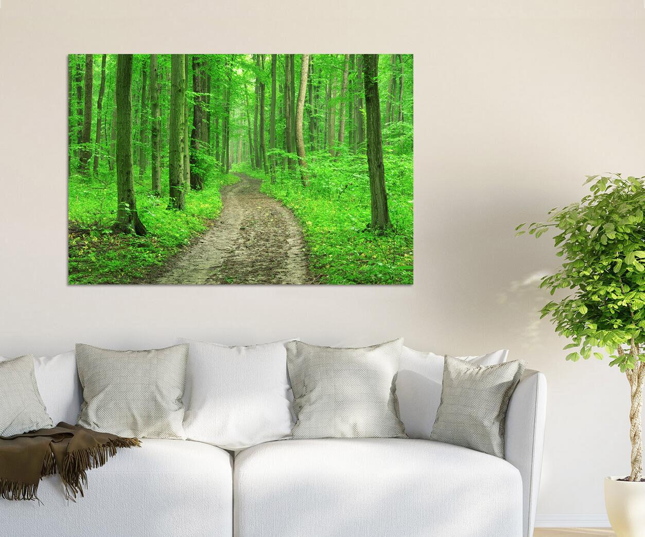 3D Grün Wald Natur Landschaft 7 Fototapeten Wandbild BildTapete AJSTORE DE Lemon