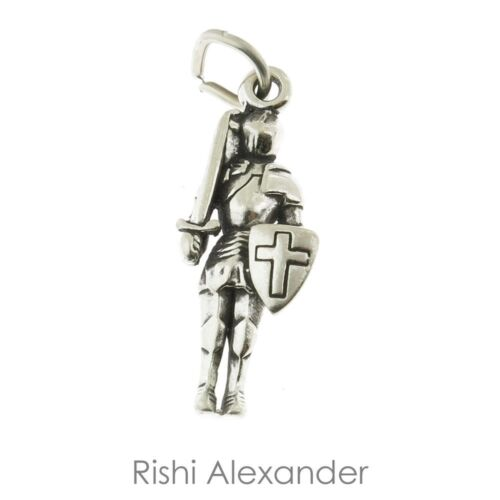 925 Sterling Silver Knight In Shining Armor Charm Made in USA