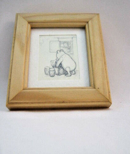 Pot Sorting Winnie The Pooh - Free Postage Mini Framed Print Wooden//Clip