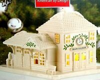 Lenox Christmas Holiday Village Train Station Lighted - In Box