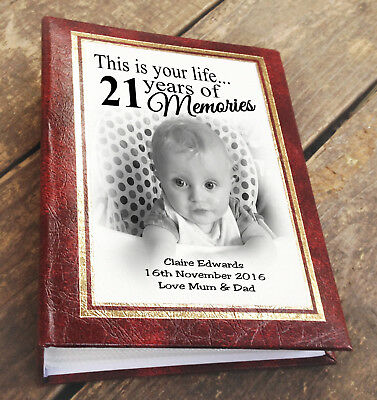 "21st birthday personalised memory book 6x4/"" or 7x5/"" photos photo album"