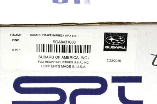 02-07 Subaru Impreza WRX STi SPT High Flow Air Intake System OEM NEW SOA8431000