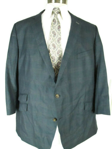 Suit Supply Mens Blue Windowpane 2 Btn Sport Coat