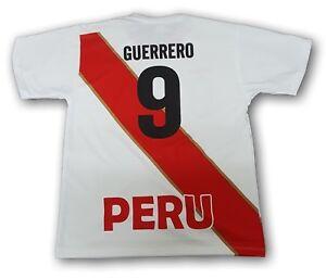 5577d4bda Peru National Soccer Team Paolo Guerrero  7 Men s Jersey Copa ...