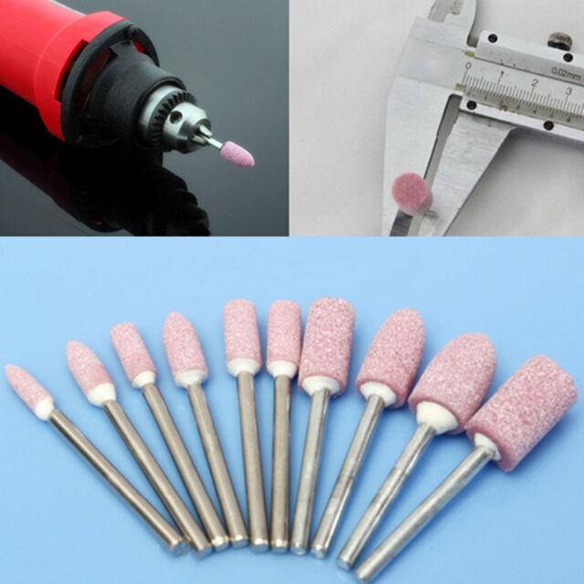 10 stk Schleifstift Schleifsteine schaft 3.175mm für Proxxon Bohrmaschine w D9R7