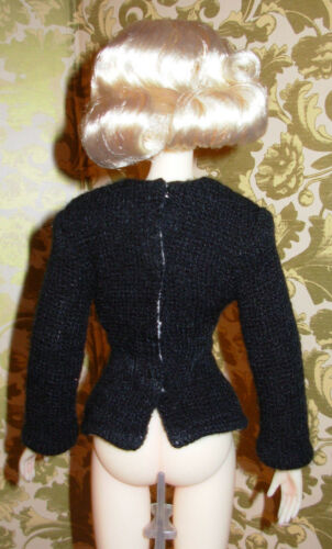 "Gene /""A Lady Knows/"" Black Doll Sweater ONLY Fits Lucy//Scarlett//Jamieshow//Zita"