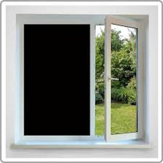 36  X 24 Rollo de comercio justo negro película privacidad para oficina, baño, puerta de cristal, tiendas, escuelas