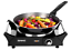 Portable Single Table-Top Cooking Steel Electric Single Hob with Handles Burner