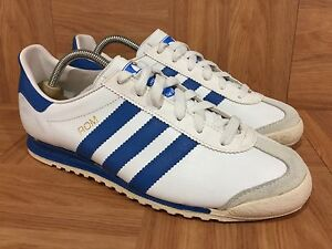 new concept 704f8 e0699 Details about RARE🔥 Adidas ROM Made In USA Men's Vintage Sneakers SZ 6  White Classic Blue Men