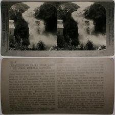 Keystone Stereoview Ouiatchouan Falls, St. John, CANADA From 600/1200 Card Set B