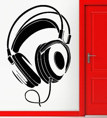 Wall Sticker Vinyl Decal Headphones Rock Pop Music Night Club Decor (z1092)