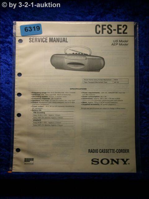 Sony Service Manual Cfs E2 Cassette Corder   6319