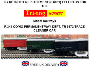 3-x-Replacement-Track-Cleaning-Felt-pads-for-Tri-ang-Hornby-R-344-Track-Cleaner
