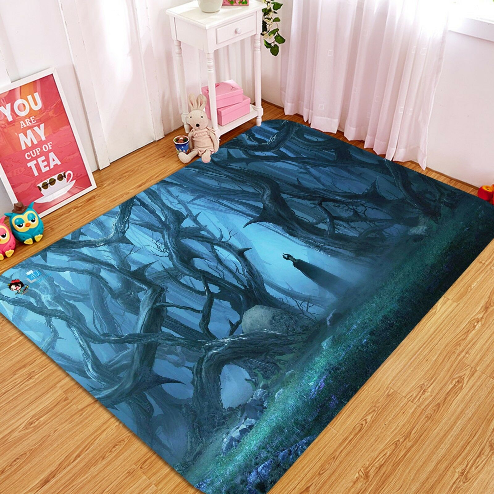 3D Magic Forest 1045 Étage Antidérapant Natte Élégant Tapis FR Summer