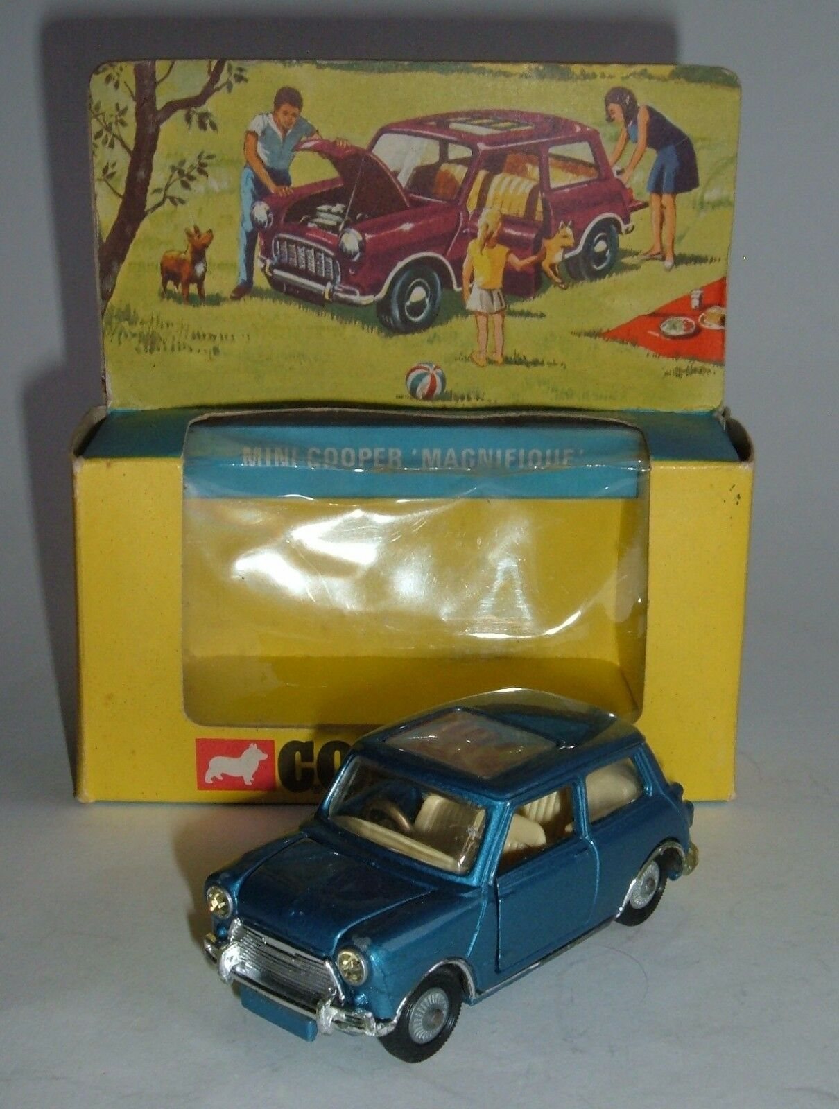 Corgi Toys No. 334, Mini-Cooper 'Magnifique', - Superb Near Mint.