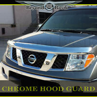 2005-2017 Nissan Frontier Chrome Bug Shield Deflector Hood Guard Protector