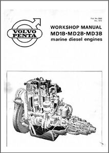 volvo penta md1b md2b md3b marine engines service manual on a cd ebay rh ebay com