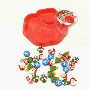 Christmas-Mini-eraser-Students-Rubber-Plate-Santa-Claus-For-children-Gift-A0D2