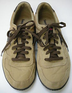 Saucony-Sneakers-Shoes-Tan-Leather-Nylon-Suede-Womens-Size-9-40-5