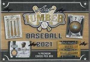 2021 Leaf Lumber Kings Baseball factory sealed hobby box (4 hits per box).