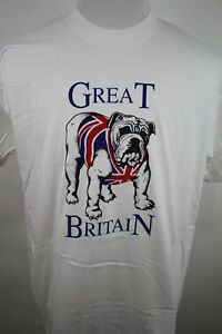 Vintage-80s-Great-Britain-Bulldog-T-shirt-Single-Stitch-Screen-Stars-Size-XL