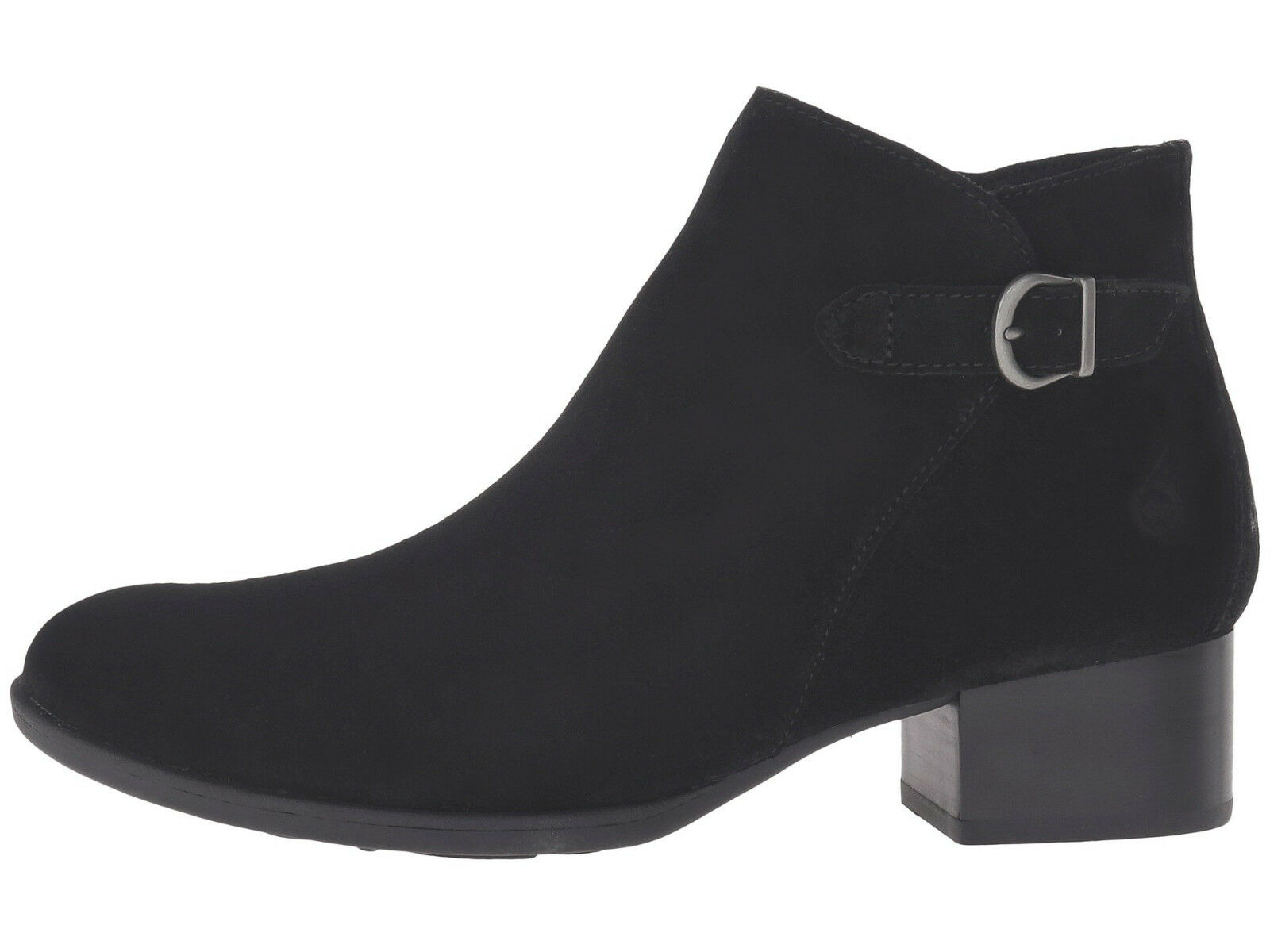 Born Damenschuhe Phobos Pull On Round Toe Side Zip Short Buckle Ankle Stiefel Booties