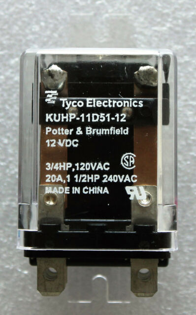 Potter /& Brumfield KUHP-11DT1-12 Power Relay DPDT 12VDC 20A Flange
