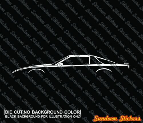 for 1982 Pontiac Firebird 3rd gen 2x muscle car silhouette stickers