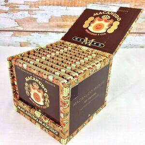 MACANUDO-Maduro-vuoto-in-legno-Cigar-Box-E-10-Tasca-TIN-VUOTA-casi-Santiago-DR