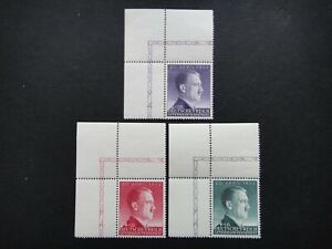 Germany Nazi 1943 Stamps MNH Adolf Hitler 54th birthday WWII Third Reich Poland
