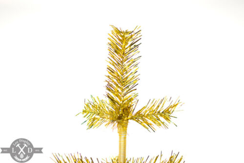 48/'/' Gold Tinsel Tree Christmas Holiday Tree 4FT Table-Top XMASS Decor Golden