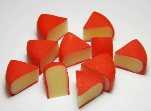 10 Dollhouse Miniature Edam Cheese Slices *Doll Mini Tiny Food Breakfast Kitchen