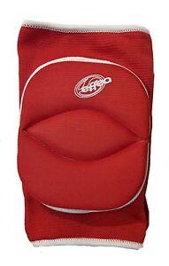 Ginocchiere-Volley-Protezione-con-snodo-e-Foro-posteriore-art-6644-colore-Rosso