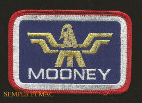 MOONEY LOGO SEAL HAT PATCH AIRPLANE PIN UP TIE TAC PILOT CREW WING SOLO GIFT