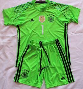 Deutschland-Trikot-Shorts-fuer-Kinder-M-Neuer-Trikot-Satz-Neu-Groesse-128
