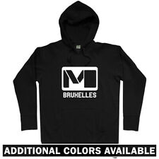 Brussels Metro Hoodie - Belgium Subway Logo Railroad Train Graffiti - Men S-3XL