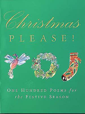 """AS NEW"" Christmas Please: 100 Poems on the Festive Season, Brooks-Davies, Dougl"