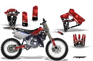 Dirt-Bike-Graphics-Kit-Decal-Sticker-Wrap-For-Yamaha-YZ125-YZ250-91-92-REAPER-R