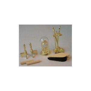 Brass-Effect-1-12-Scale-for-Dolls-House-Fireplace-Tools-and-Clock-D189
