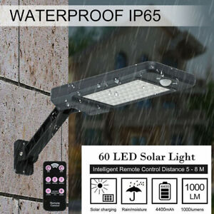 60-LED-Solaire-Exterieur-Projecteur-Lampe-Capteur-Lumiere-Mouvement-Jardin-FR