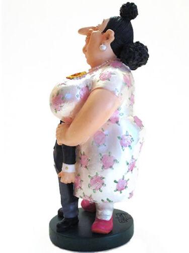 Albert Dubout Figur Souriez dicke Frau und ihr kleines Männlein Skulptur 20609C