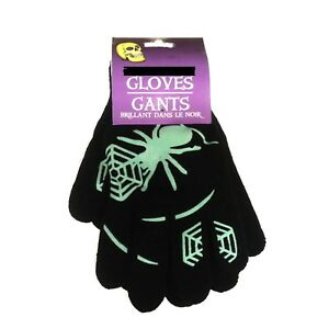 Gothic Novelty Magic Winter SPIDER w- WEB GLOVES Punk Cosplay Costume-Kids Teens